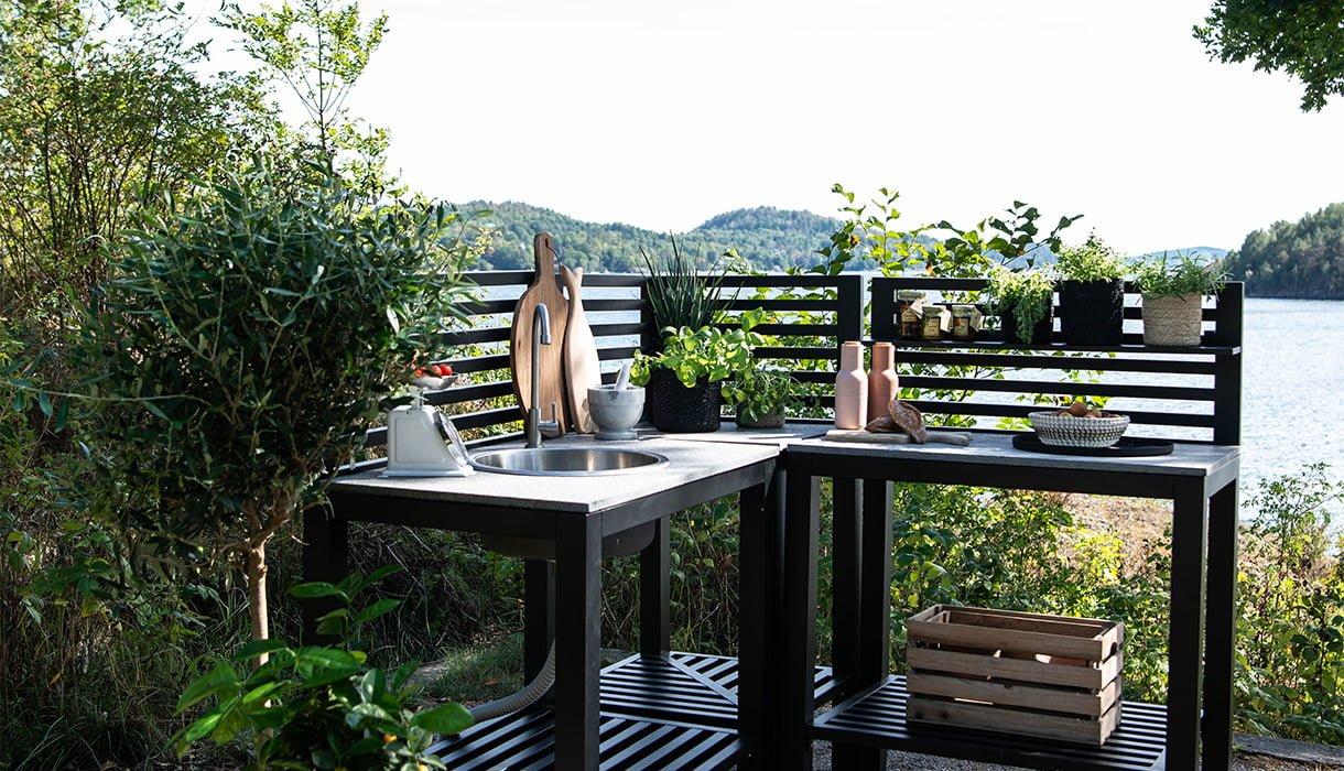 Bilde av Bellac utekjøkken, sort på veranda