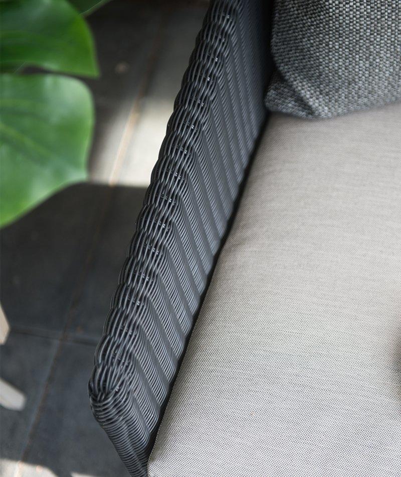 Detalj av Avila rottingstol fra 4 seasons outdoor med pute