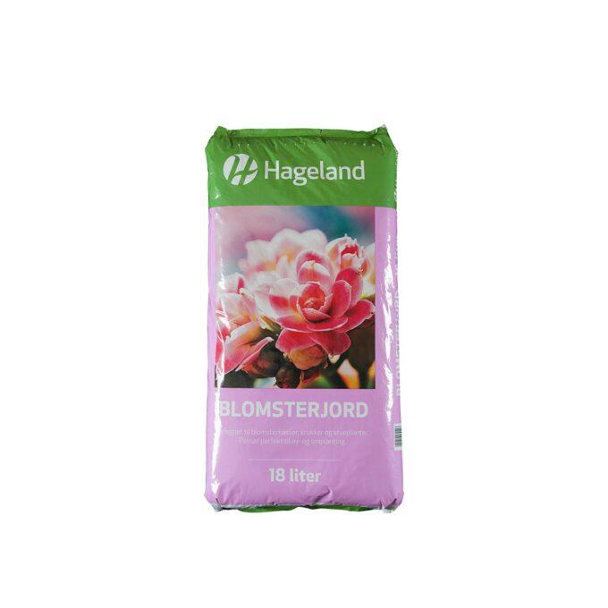 pose med Hageland blomsterjord 18 liter