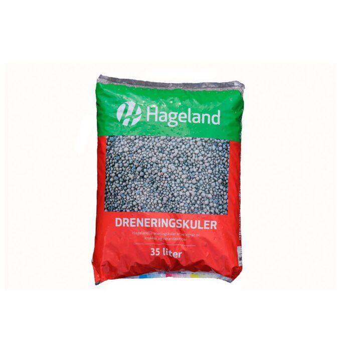 pose med Hageland dreneringskuler 35 liter