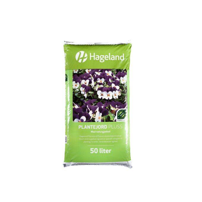 pose med Hageland plantejord pluss 50 liter