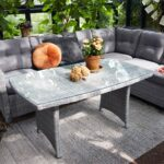 Sofabord Anholt Fyn 140x80 grå kunstrotting