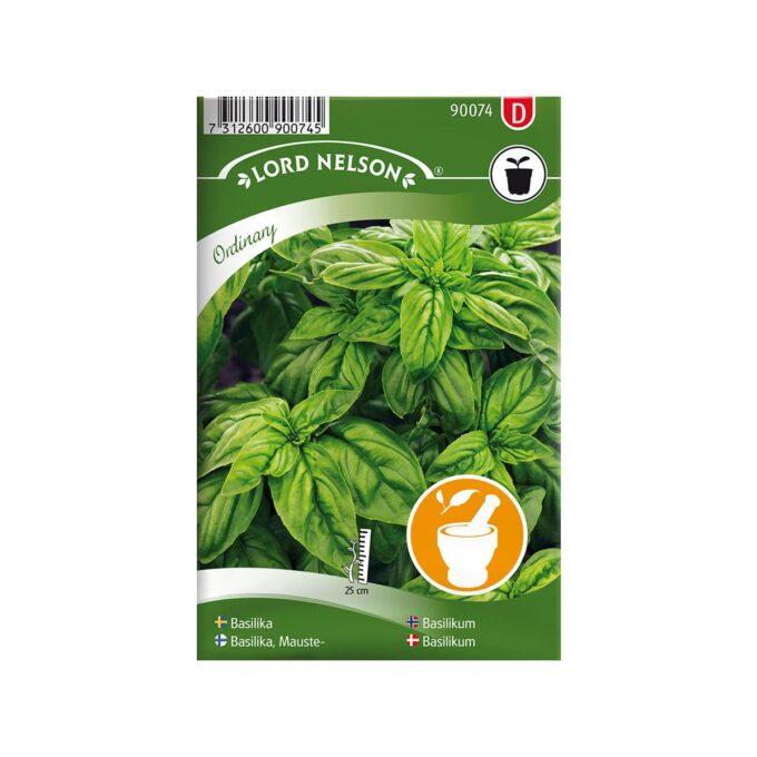 Nelson Garden frøpakke - Basilikum glattbladet grønn, Ordinary