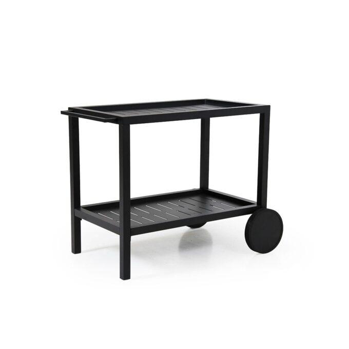 Serveringsvogn Belfort med hjul i sort