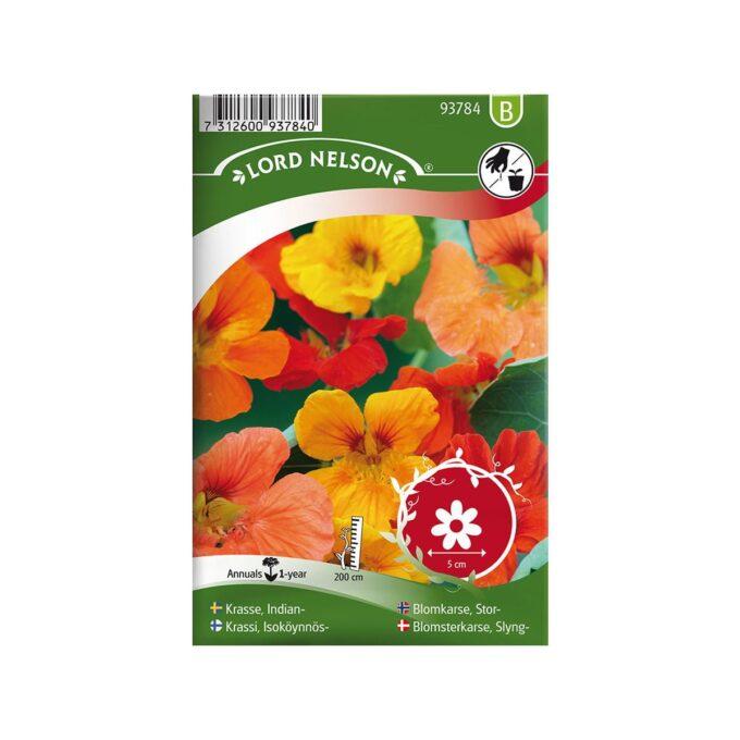 Nelson Garden frøpakke - Blomkarse, Stor, blanding