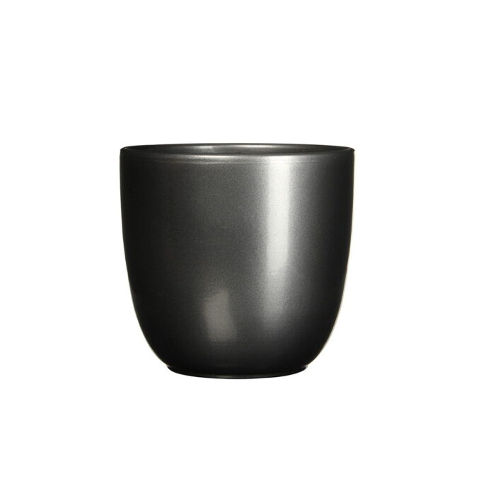 sort blank blomsterpotte 17 cm