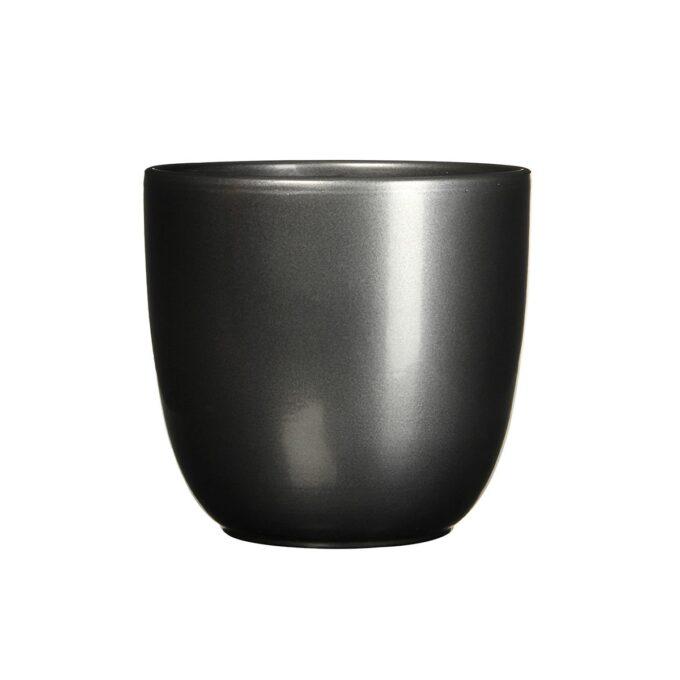 sort blank blomsterpotte 25 cm