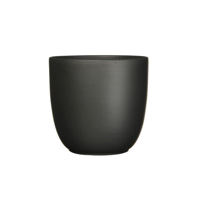 sort matt blomsterpotte 13,5 cm