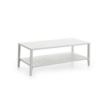 Sofabord Chelles i matt hvit aluminium