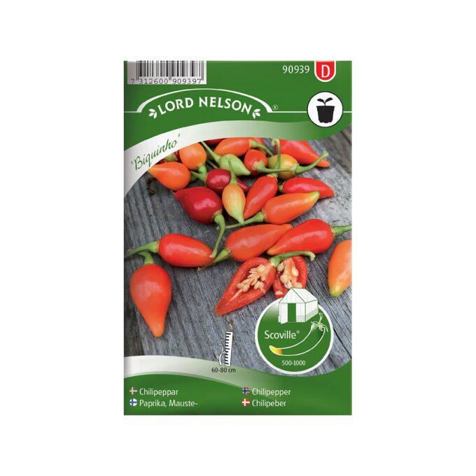 Chili Biquinho - frø fra Nelson Garden