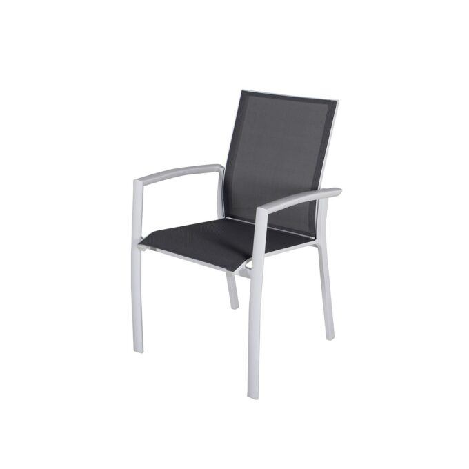 Stablestol Dakota i hvit matt aluminium på hvit bakgrunn