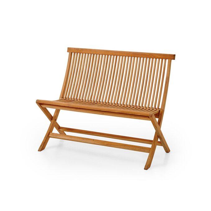 Hagebenk Turin Klassisk benk i teak, som passer fint både på terrassen og i hagen.