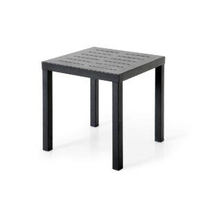 Pulverlakkert, sort matt aluminium