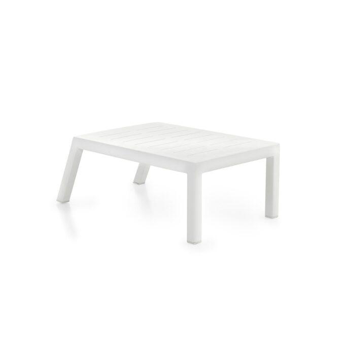 Belfort sidebord med pulverlakkert hvit matt aluminiumsramme