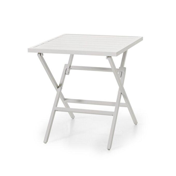 Praktisk klappbord i aluminium.