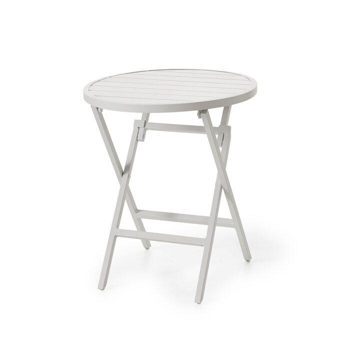 Klappbord Wilkie Ø72 hvit matt aluminium