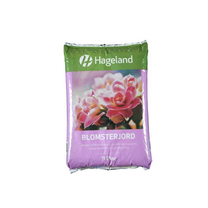 pose med Hageland blomsterjord 9 liter