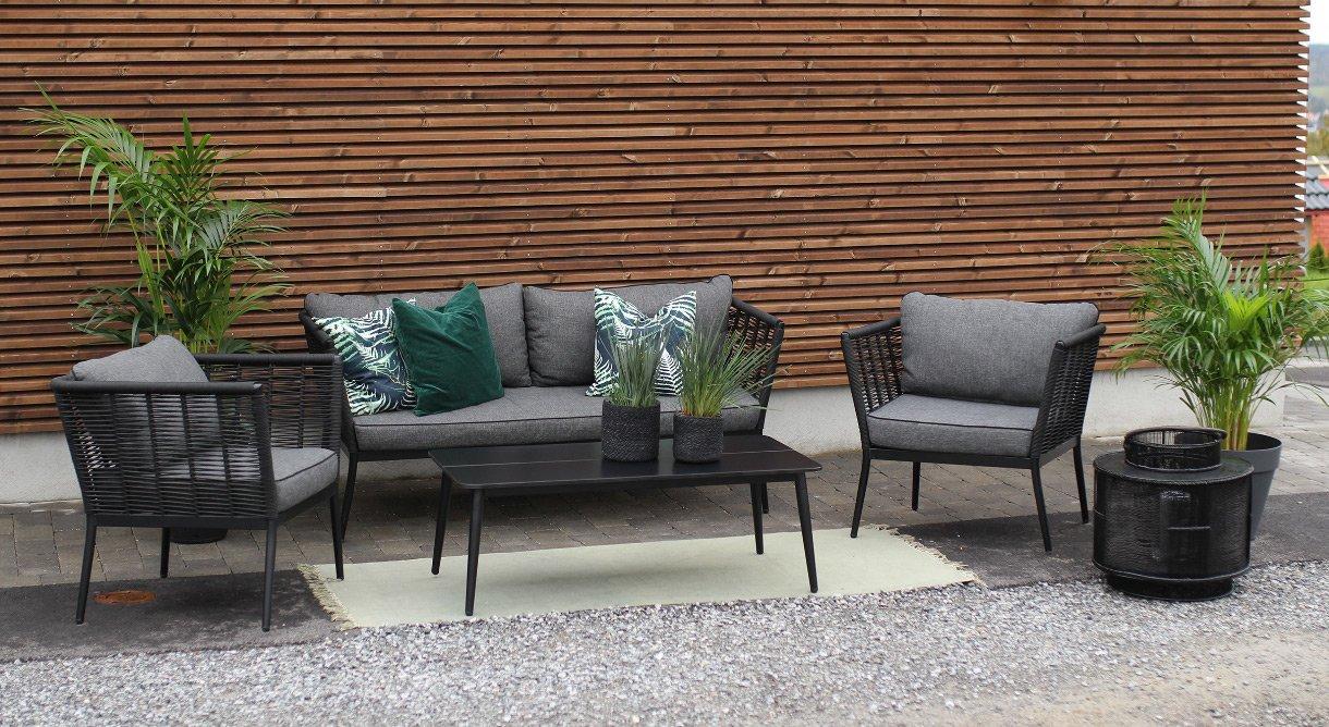 Hagemøbler uterom sofagruppe sofa stol aliminium rep Sacaba
