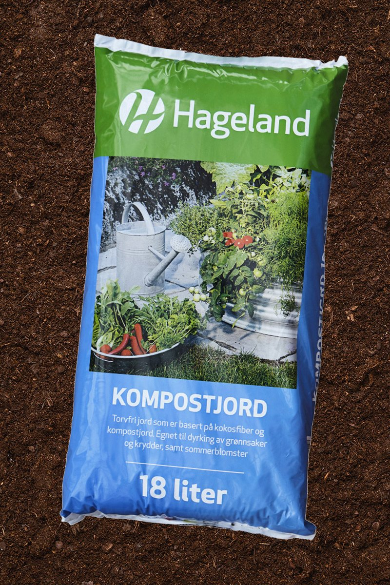 Miljøvennlig kompostjord fra Hageland