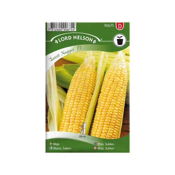 Frøpakke Mais, Sukker-, Sweet Nugget F1 - frø fra Nelson Garden