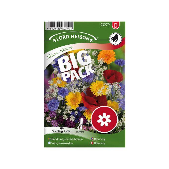 frøpakke Mix, Sommerblomster Big Pack - frø fra Nelson Garden
