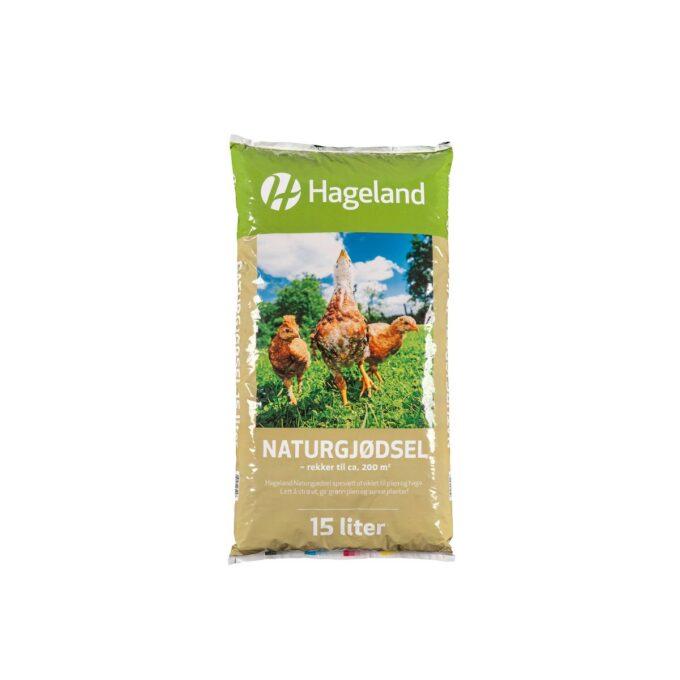 pose med Hageland naturgjødsel 15 liter