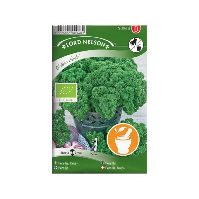 frøpakke Persille, Krus-, Grüne Perle, Organic - frø fra Nelson Garden