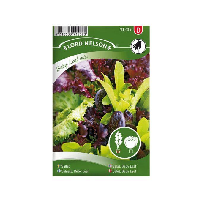 Babysalat Baby Leaf mix - frø fra Nelson Garden