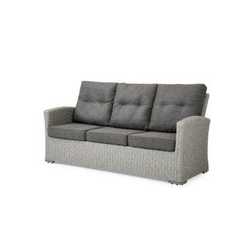 3-seter sofa Ashfield i grå kunstrotting med hvit bakgrunnsbilde