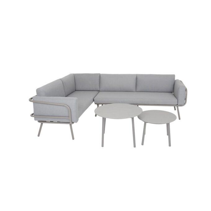Sofagruppe Barinas i aluminum med hvit bakgrunnsbilde