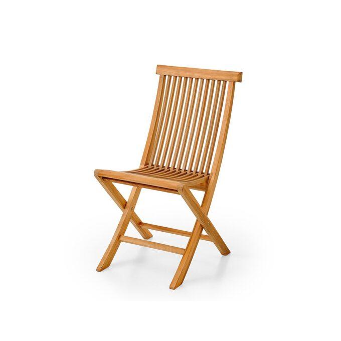 Klassisk klappstol i teak, som passer fint både på terrassen og i hagen. Stolen er sammenleggbar