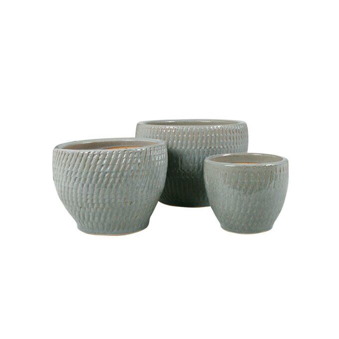 Atlanta utepotte i grå keramikk