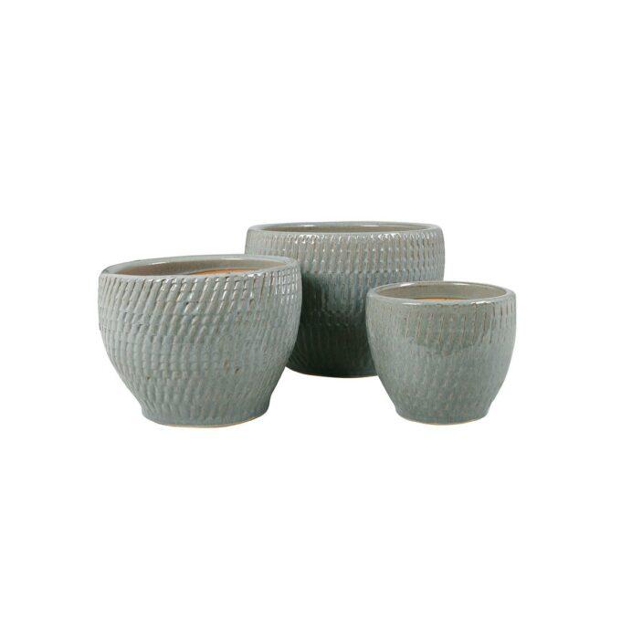 Atlanta utepotter - grå keramikk