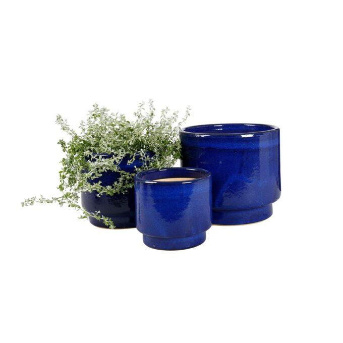 Calisto utepotter i blått med planter