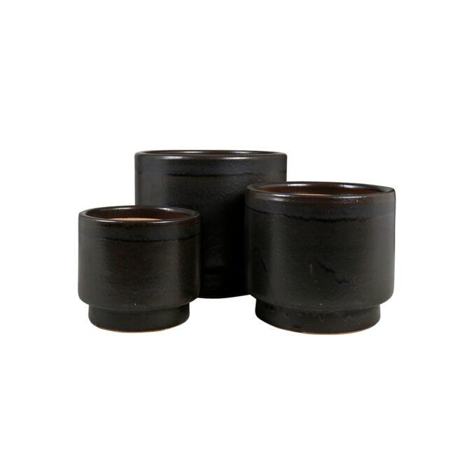 Calisto utepotte i keramikk - galantgrått