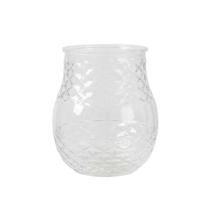 Vase, glass, Ø 15,5 cm