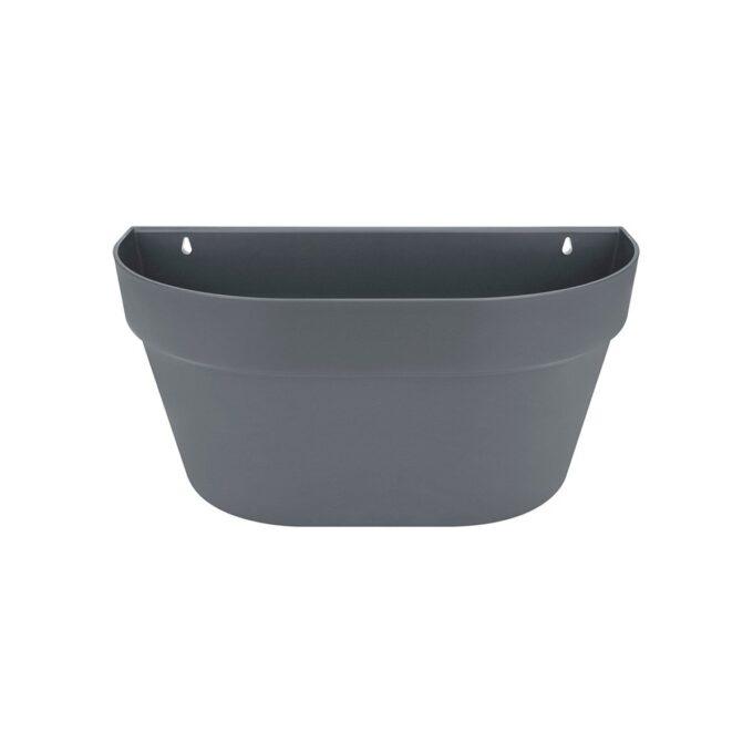 grå veggpotte i resirkulert plast, diameter 40 cm
