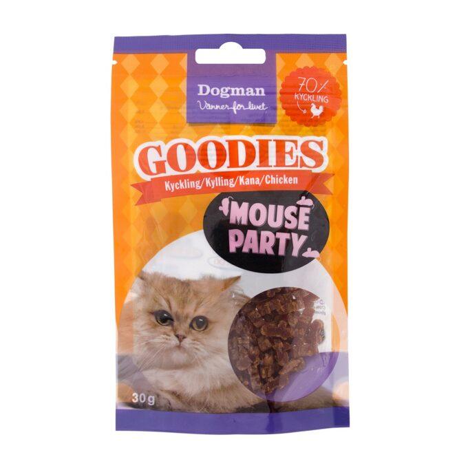 Mouse Party kattesnacks av kylling