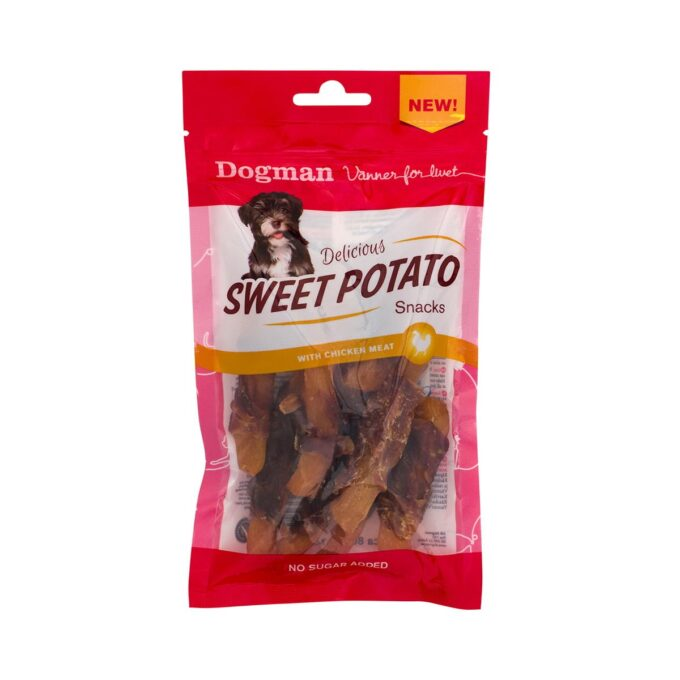 Sweet Potato Snacks med kylling Dogman