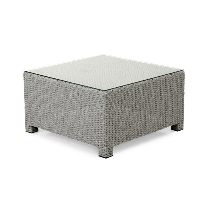 Fotpall eller bord, Adams, i grå kunstrotting