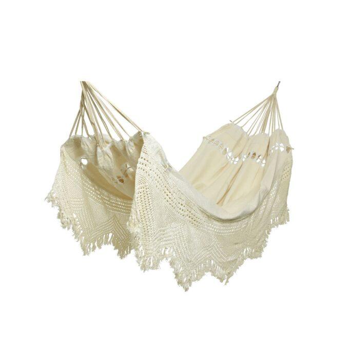 Hengekøye med frynser hvit