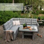 Sofagruppe Nyborg i lysgrå, med merket høyrevendt 2 seter