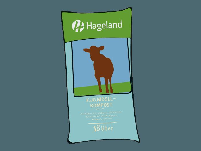 Hageland Hagekartoteket - Spesialjord kugjødselkompost