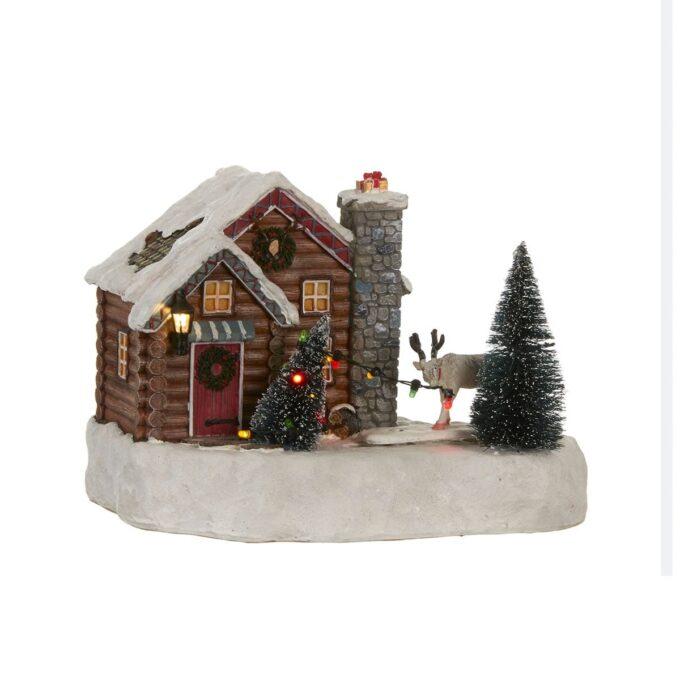 Juleby reinsdyr gård m juletre