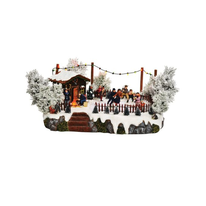 Juleby skøytebane i skogen