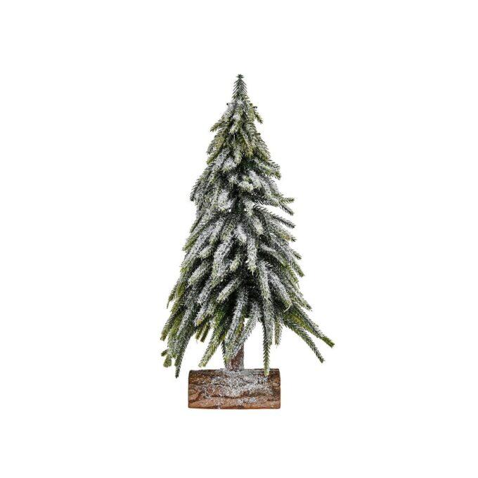 Juletre m/snø julepynt