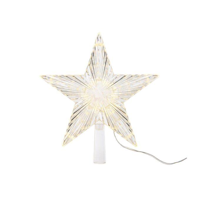 Mange modeller av kunstige juletrær med belysning har en tilkobling til denne stjernen i toppen.