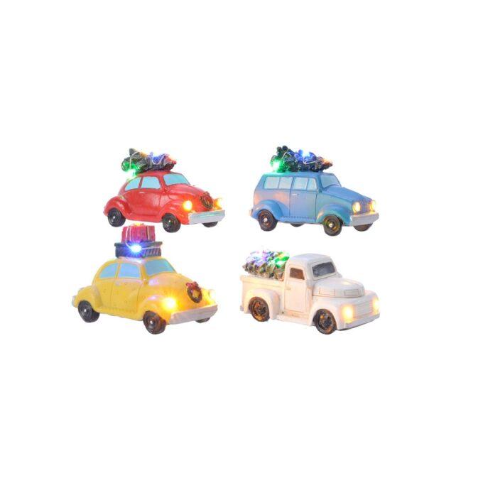 Juleby biler med lys