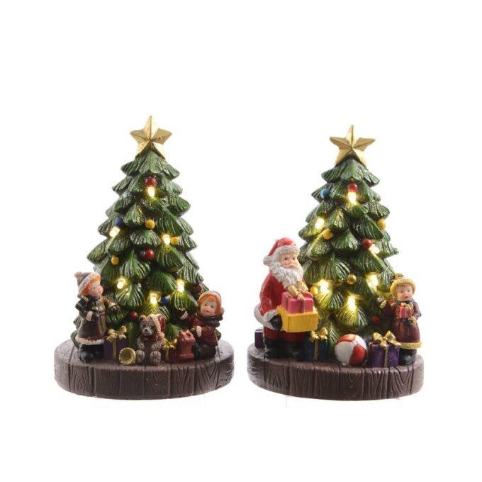 Juleby juletre med lys