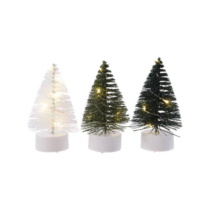 Juleby juletre 3 ass med 6 lys